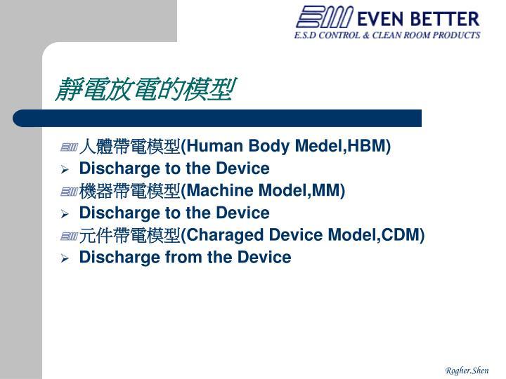 靜電放電的模型