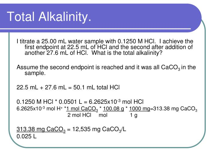 Total Alkalinity.