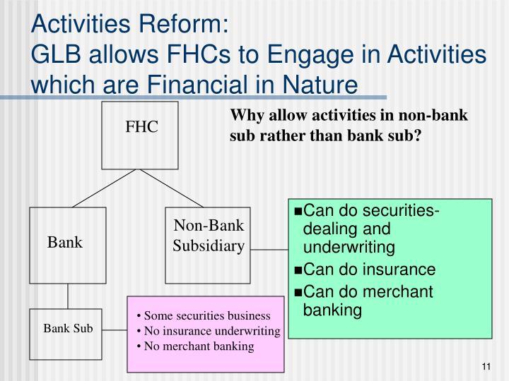 Activities Reform:
