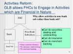 activities reform glb allows fhcs to engage in activities which are financial in nature
