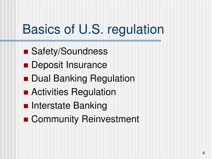 Basics of U.S. regulation