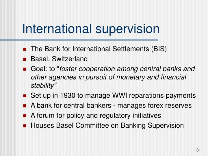 International supervision