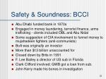 safety soundness bcci