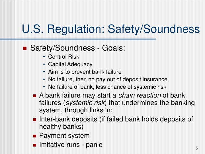 U.S. Regulation: Safety/Soundness