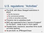 u s regulations activities1