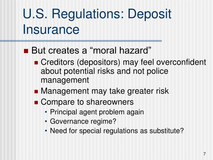 U.S. Regulations: Deposit Insurance