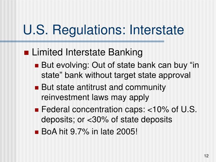 U.S. Regulations: Interstate
