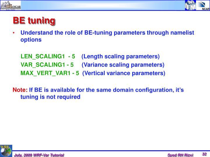 BE tuning