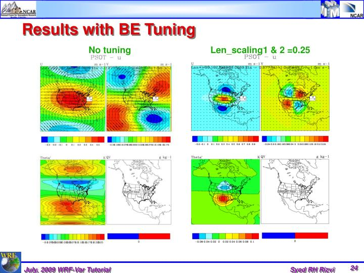 Results with BE Tuning