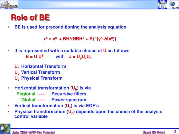 Role of BE