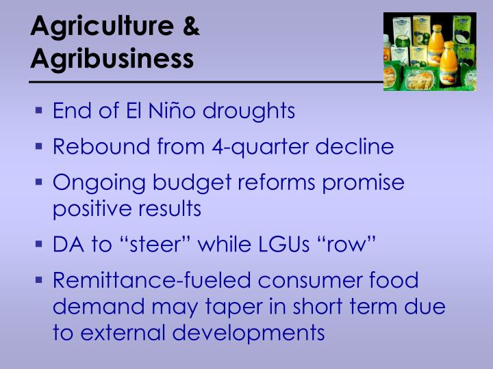 Agriculture & Agribusiness