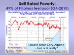 self rated poverty 49 of filipinos feel poor q4 2010