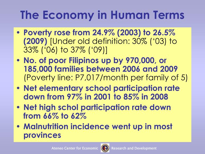 The Economy in Human Terms