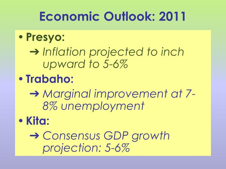 Economic Outlook: 2011