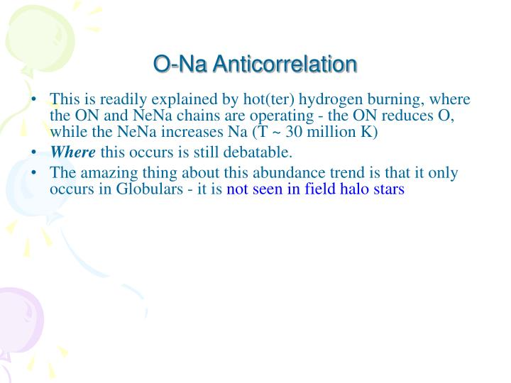 O-Na Anticorrelation