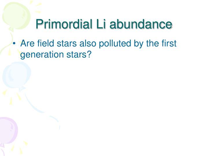 Primordial Li abundance