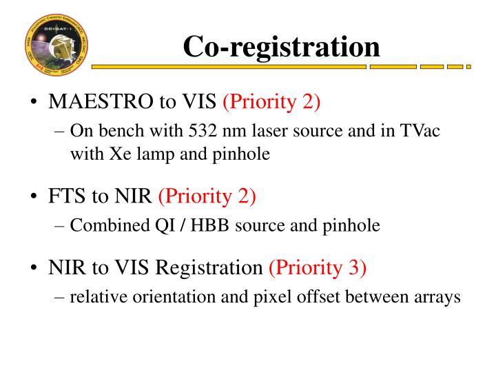 Co-registration