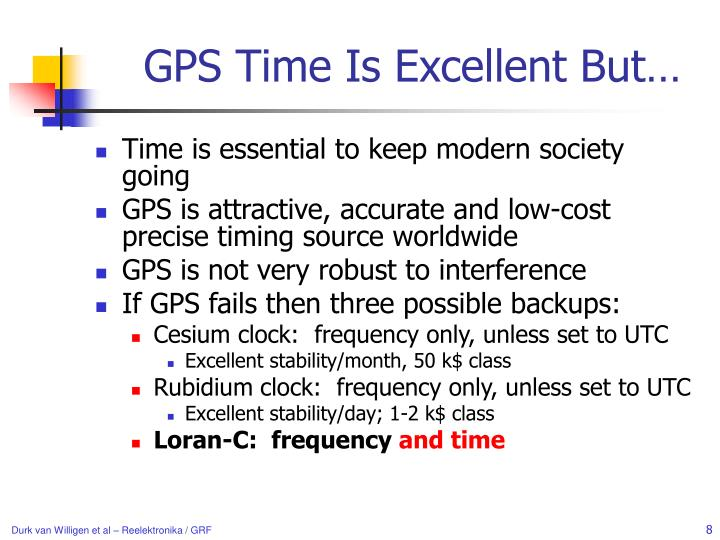 GPS Time Is Excellent But…