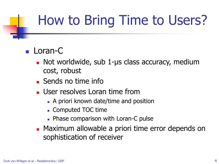 How to Bring Time to Users?