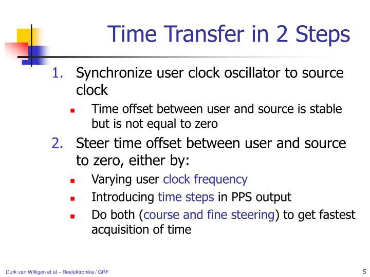 Time Transfer in 2 Steps