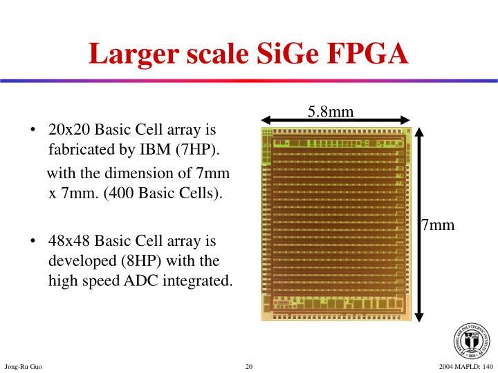 Larger scale SiGe FPGA