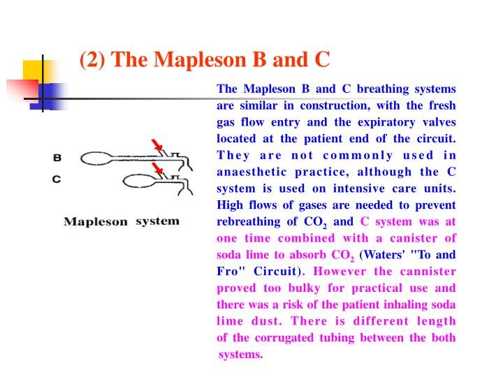 (2) The Mapleson B and C