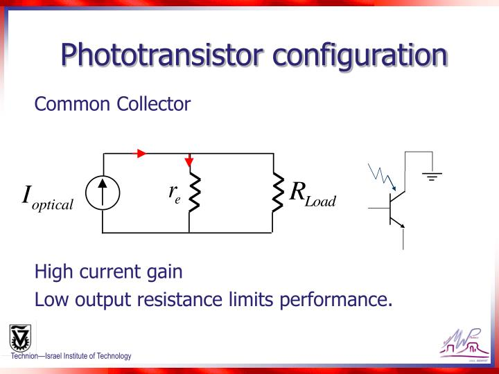 Phototransistor configuration