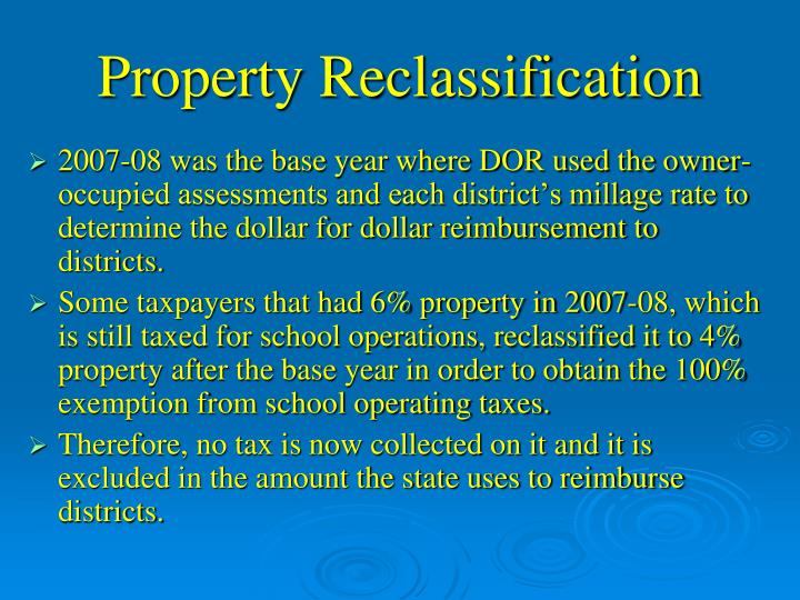 Property Reclassification