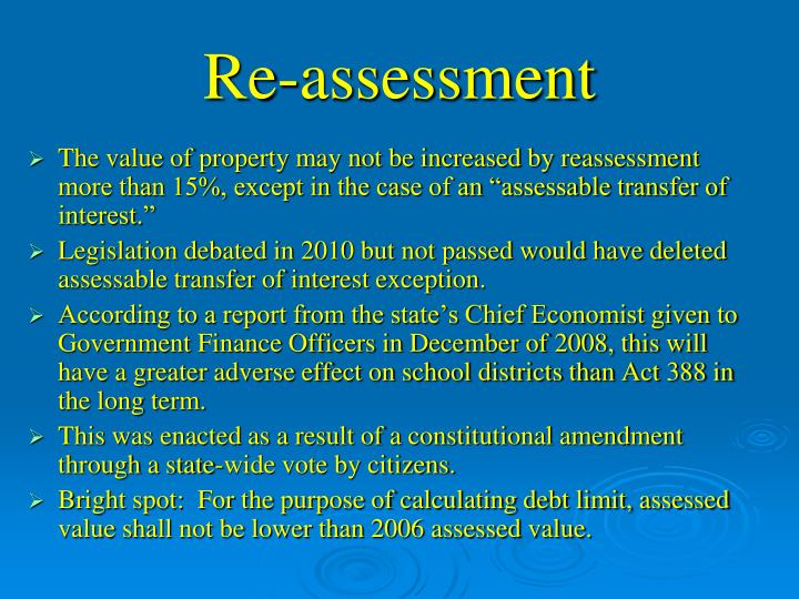 Re-assessment