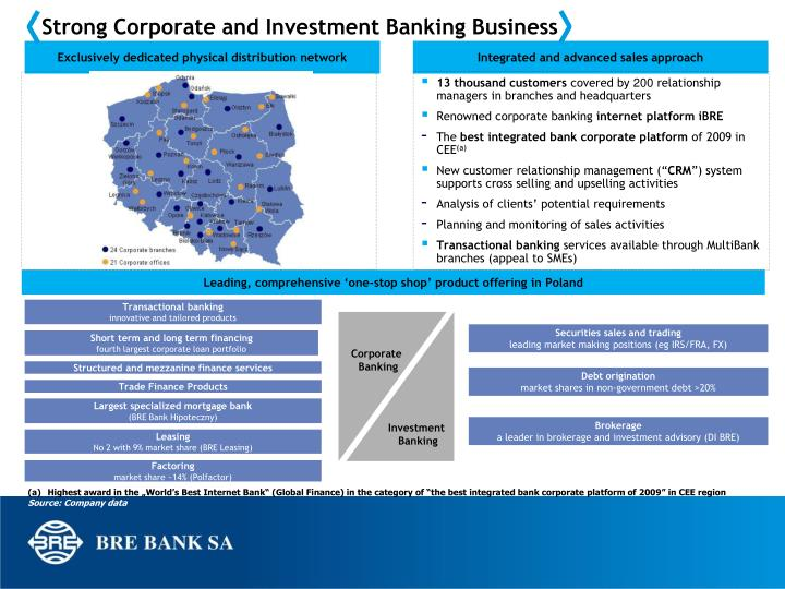 Strong Corporate and Investment Banking Business
