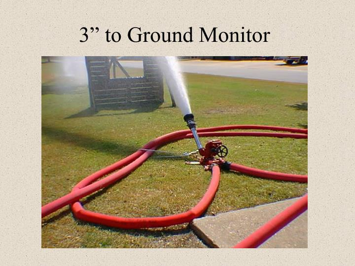 "3"" to Ground Monitor"