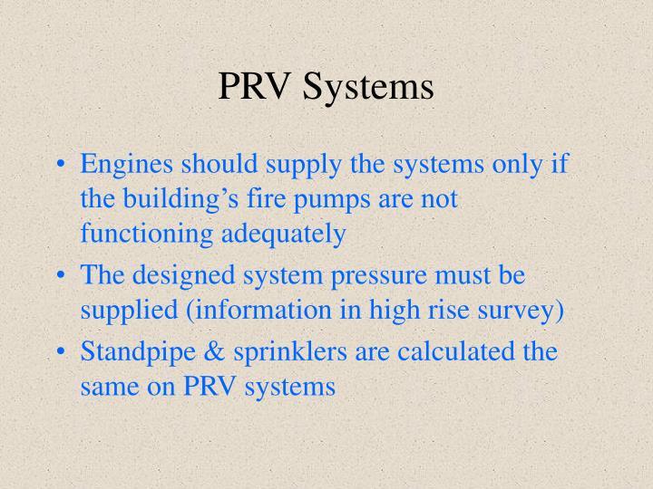 PRV Systems