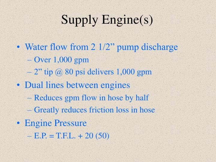 Supply Engine(s)