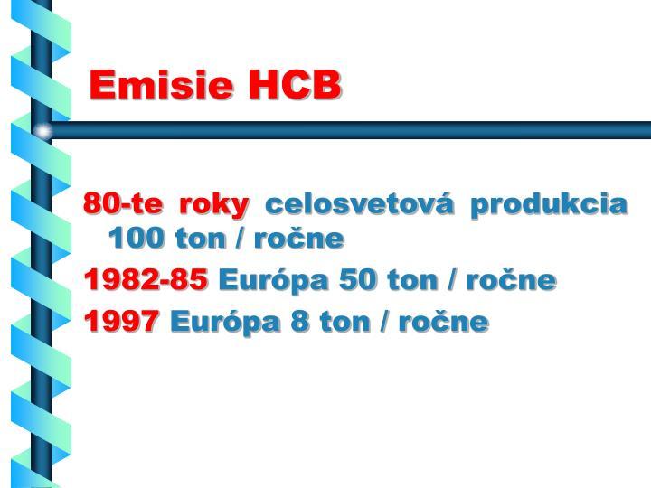Emisie HCB