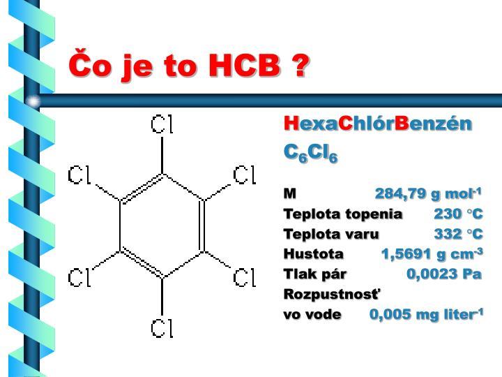 Čo je to HCB ?