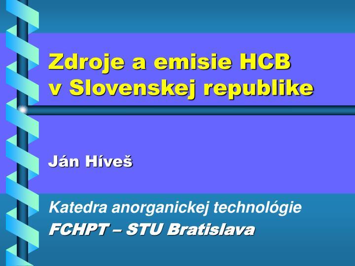 Zdroje a emisie HCB