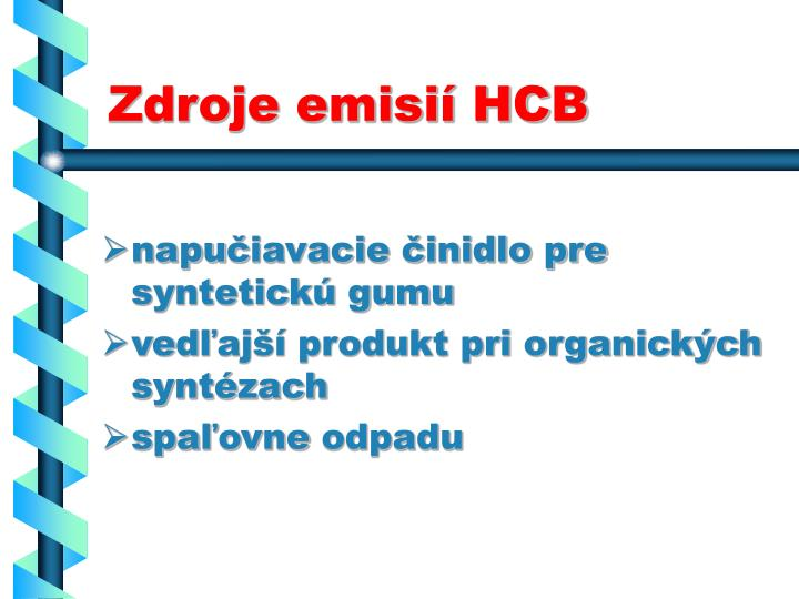Zdroje emisií HCB