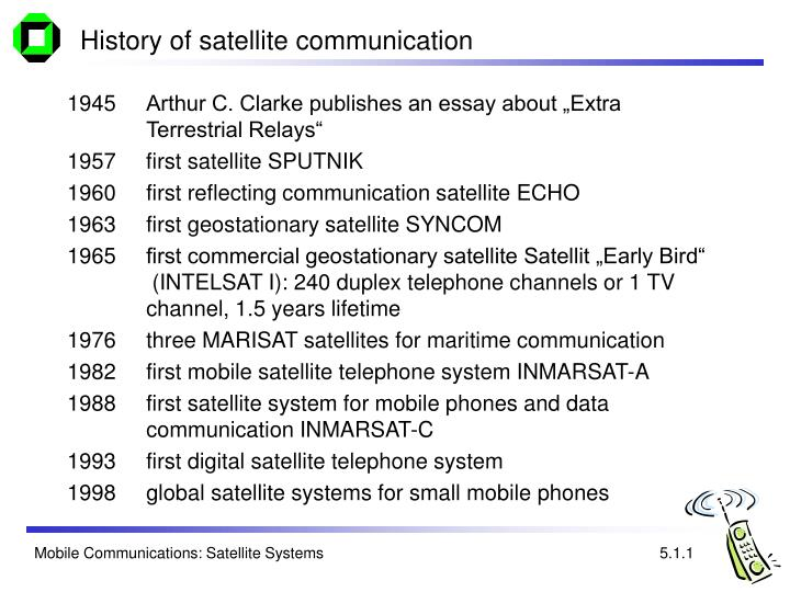 History of satellite communication