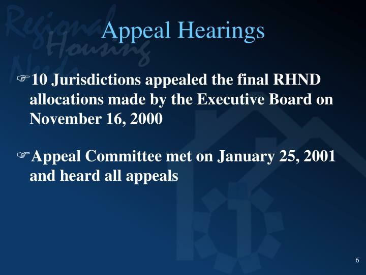 Appeal Hearings