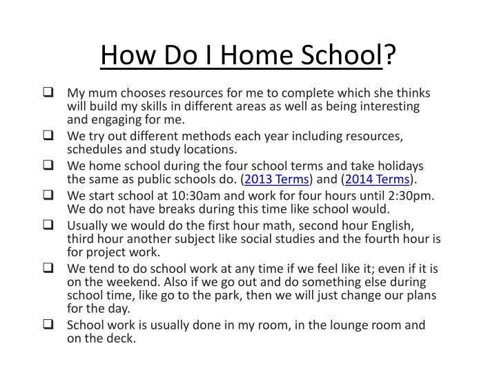 How Do I Home School