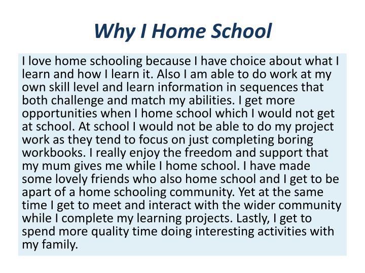 Why I Home School
