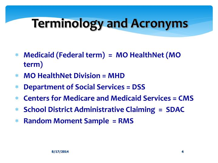 Terminology and Acronyms