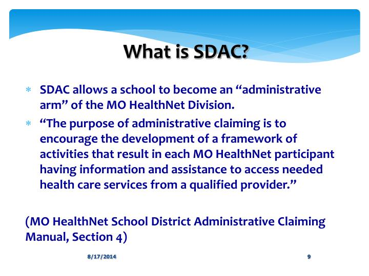 What is SDAC?