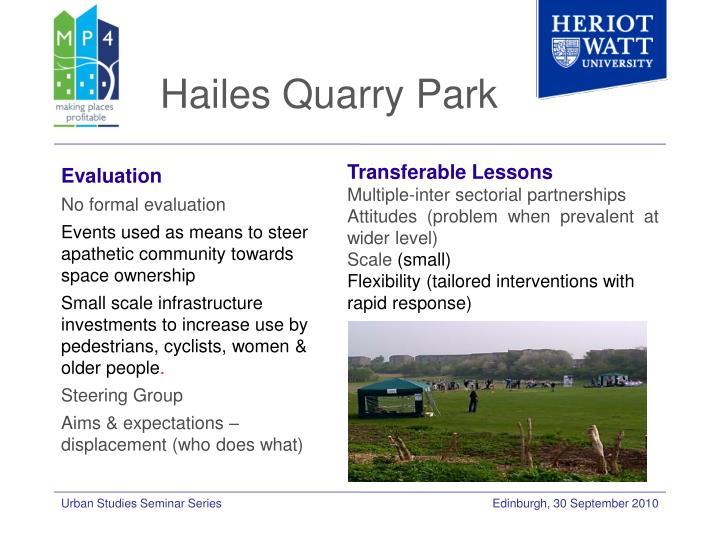 Hailes Quarry Park