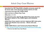 adult day care waiver