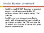 health homes continued