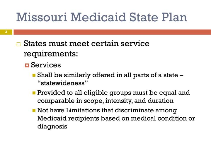 Missouri medicaid state plan1