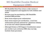 mo healthnet durable medical equipment dme