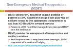 non emergency medical transportation nemt
