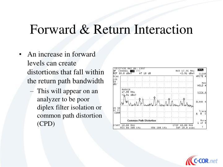Forward & Return Interaction